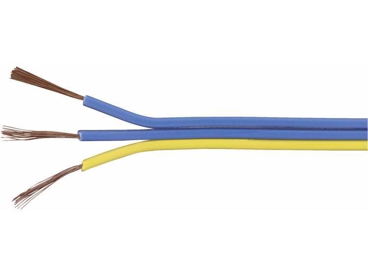 TRU COMPONENTS Flätad kabel TRU COMPONENTS 1567055 3 x 0.14 mm² Blå, Gul 25 m