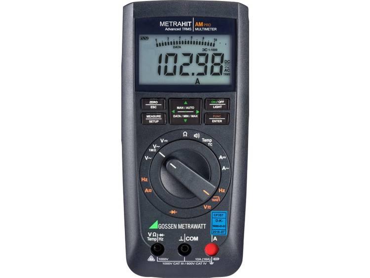 Gossen Metrawatt METRAHIT AM PRO Handmultimeter digital Kalibrerad enligt: DAkkS CAT III 1000 V, CAT IV 600 V Display (Beräkningar): 12000