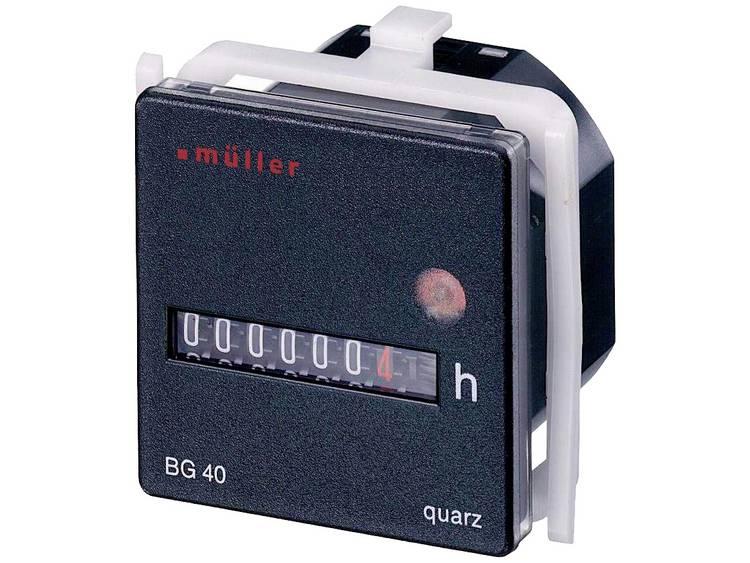 Müller BG4017DrifttimmätareRullräkneverk , , , , Panelmontering45x45 mm7-siffrig12 - 48 V/DC