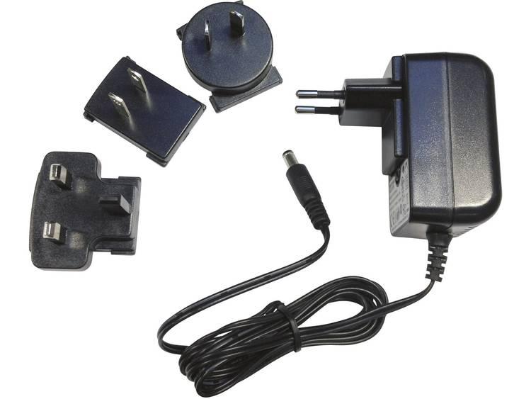 Dehner Elektronik ZDD 120100m-N Nätadapter fast 12 V/DC 1000 mA 12 W Stabiliserad, med USA-adapter, med UK-adapter, med Australien-adapter