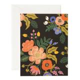 Rifle Paper Co Vintage lively floral black card, rifle paper co