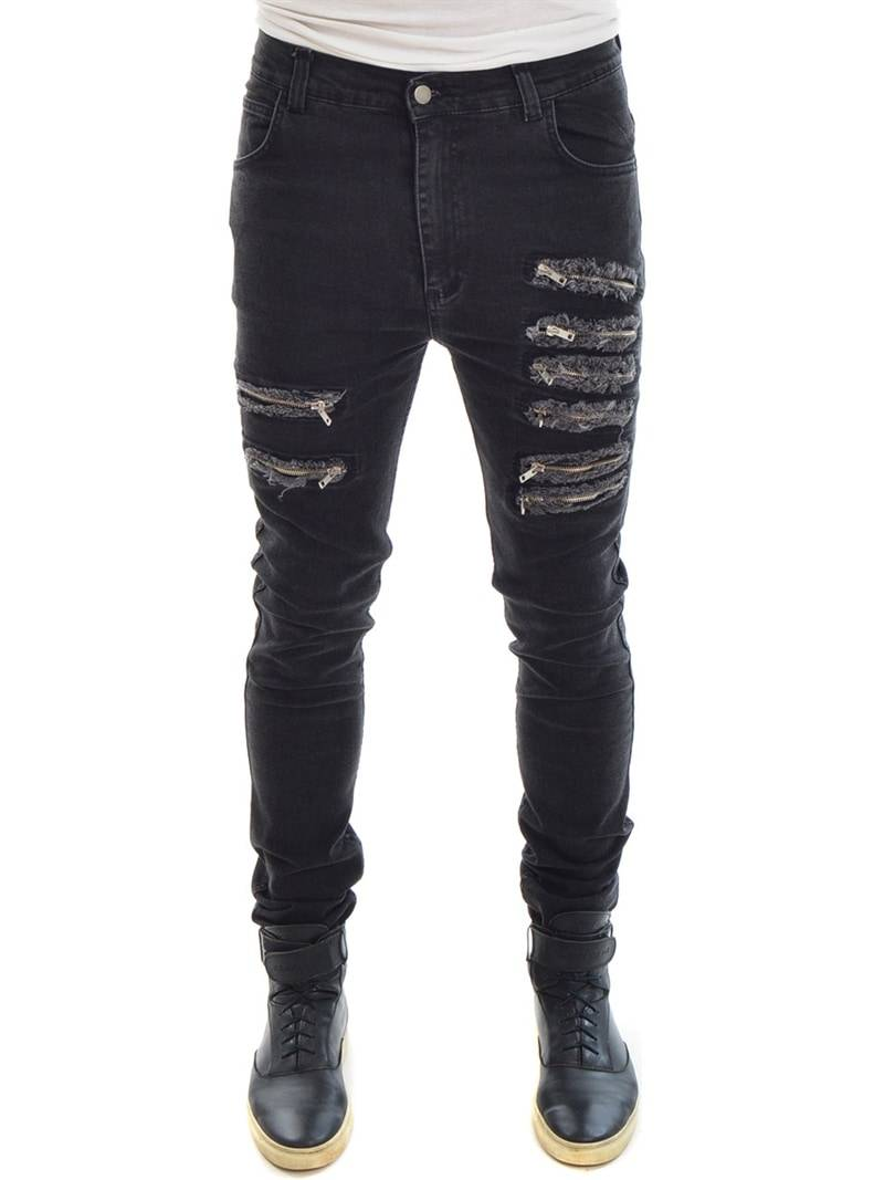 Army of Me Denim With Zippers Washed Grey 34