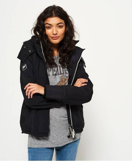 Superdry Hooded Faux Fur Sherpa SD-Windattacker Jacket Jackets and Coats