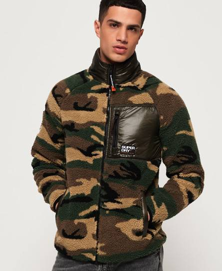 Superdry Mountain Sherpa Camo Track Top Tops