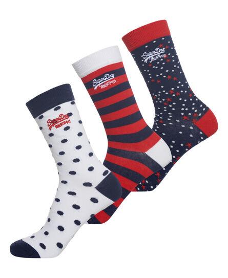 Superdry Nautical Socks Triple Pack Underwear and Socks