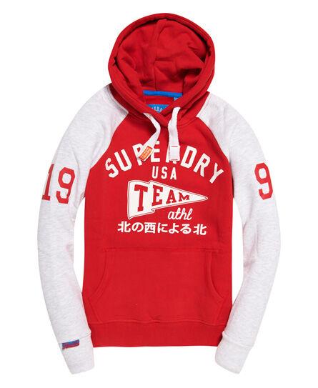 Superdry Team Sport Raglan Hoodie Hoodies