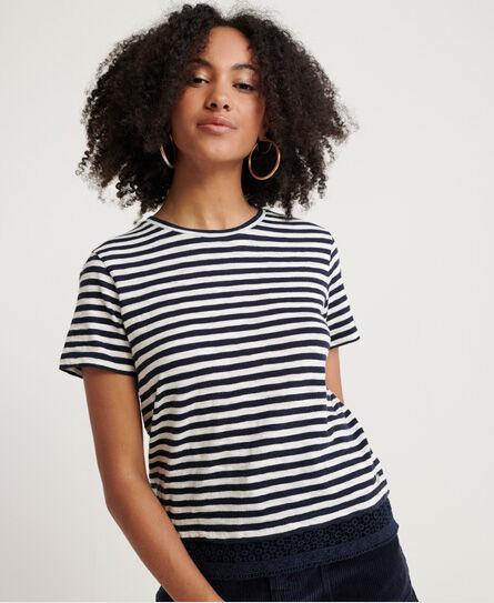 Superdry Iris Lace Trim T-Shirt T Shirts