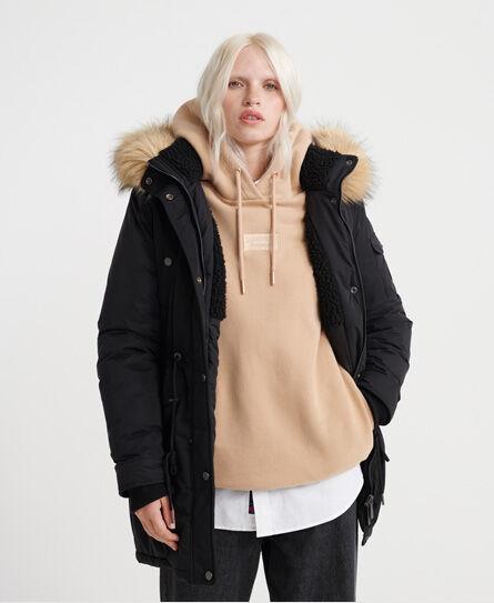 Superdry Nadare Microfibre Parka Jackets and Coats