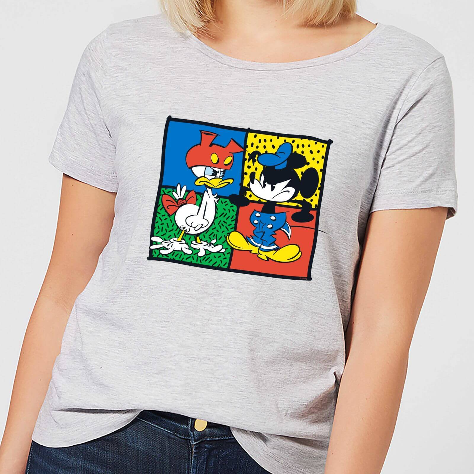 Disney Mickey And Donald Clothes Swap Women's T-Shirt - Grey - S - Grey