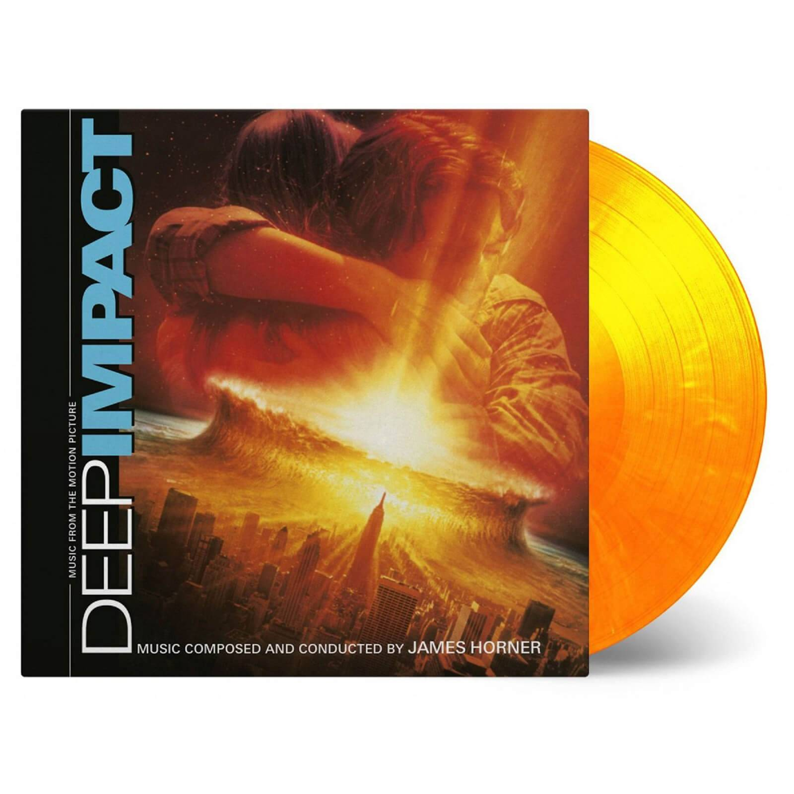 Music On Vinyl: At The Movies James Horner - Deep Impact (Soundtrack) [2LP] (LIMITED ''FLAMING'' SOLID YELLOW & SOLID ORANGE MIXED 180 Gram Audiophile Vinyl, gatefold, first time on vinyl, numbered to 750)