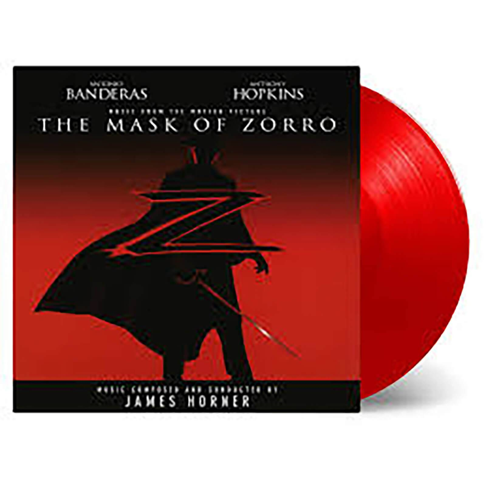 Music On Vinyl: At The Movies James Horner - Mask Of Zorro (Soundtrack) [2LP] (LIMITED RED 180 Gram Audiophile Vinyl, gatefold, first time on vinyl, PVC sleeve, numbered to 750)