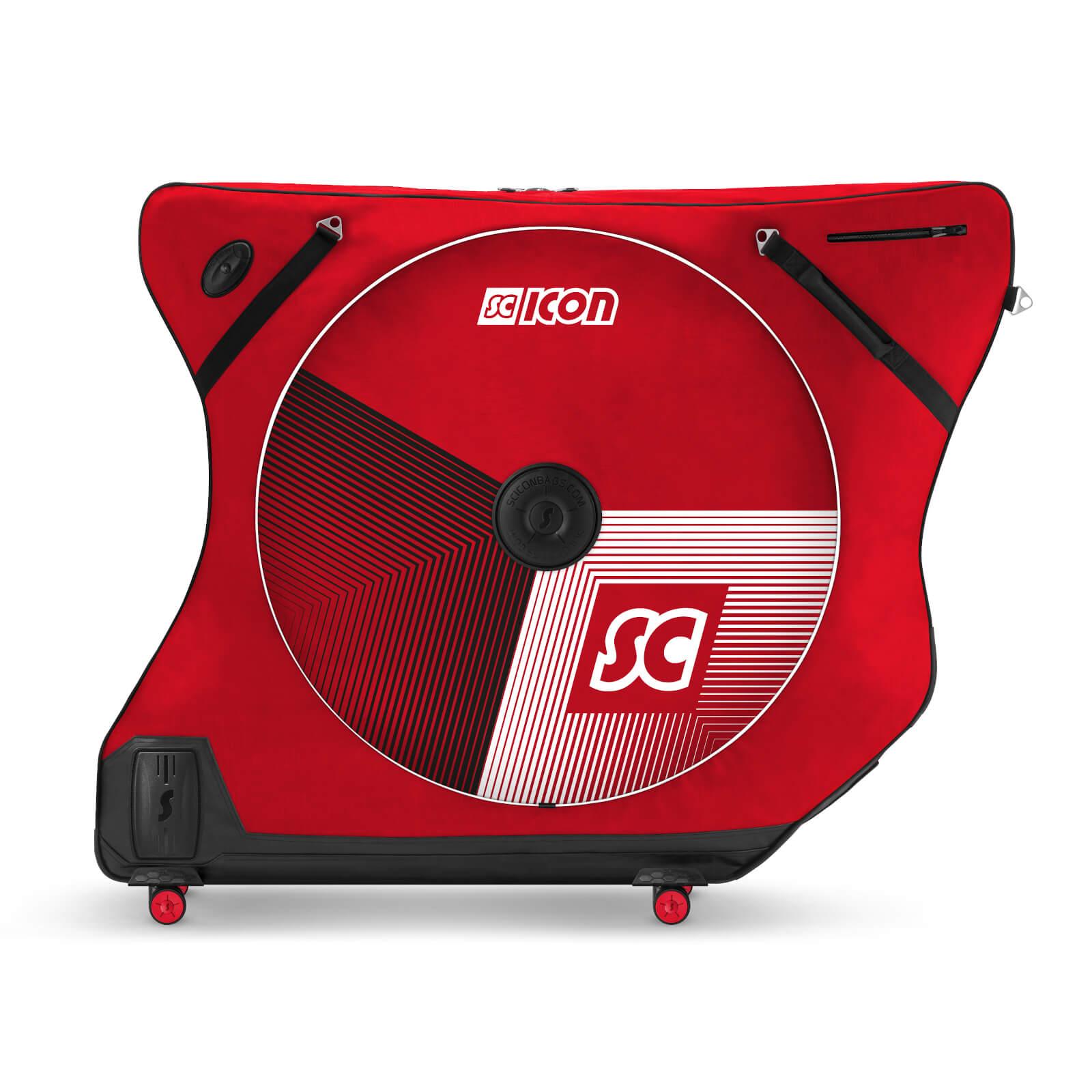 Scicon AeroComfort Road 3.0 TSA Ltd Edition Bike Bag With FREE Passport Wallet & Race Rain Bag - Stelvio Red;