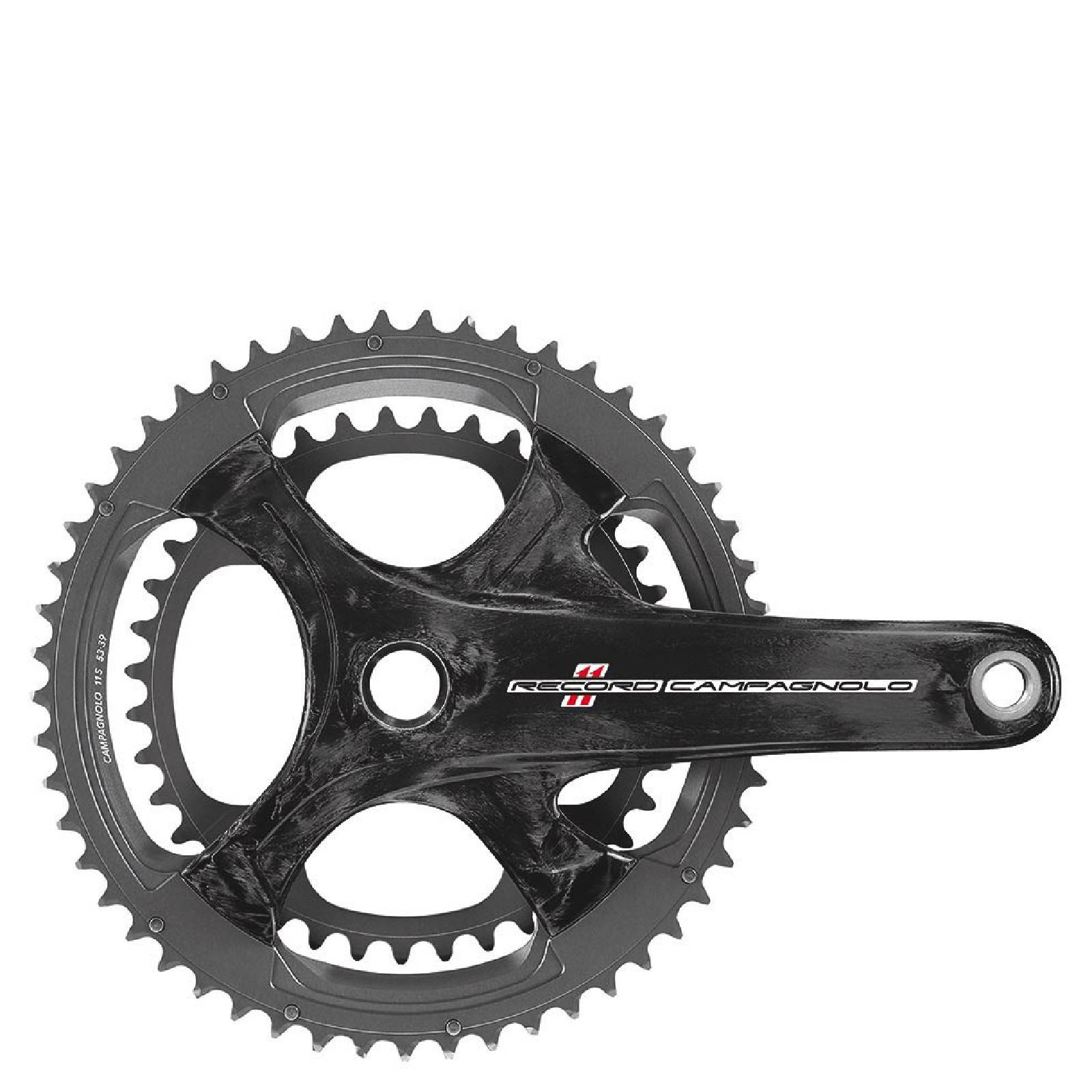 Campagnolo Record 11 Speed Ultra Torque Carbon Compact Chainset - Black - 52-36T 172.5mm