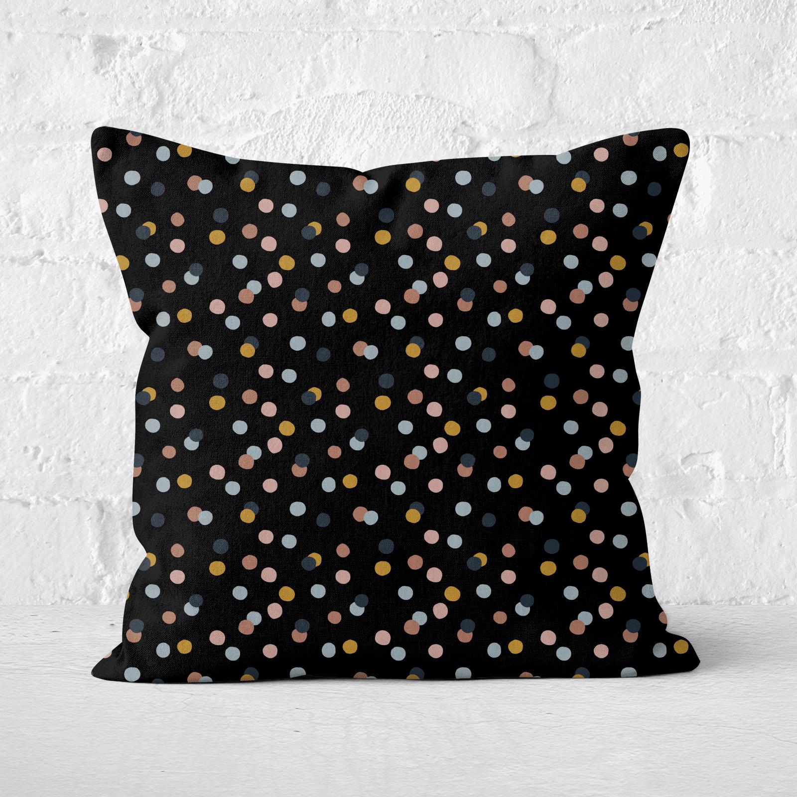 Rainbow Confetti Square Cushion - 50x50cm - Soft Touch-