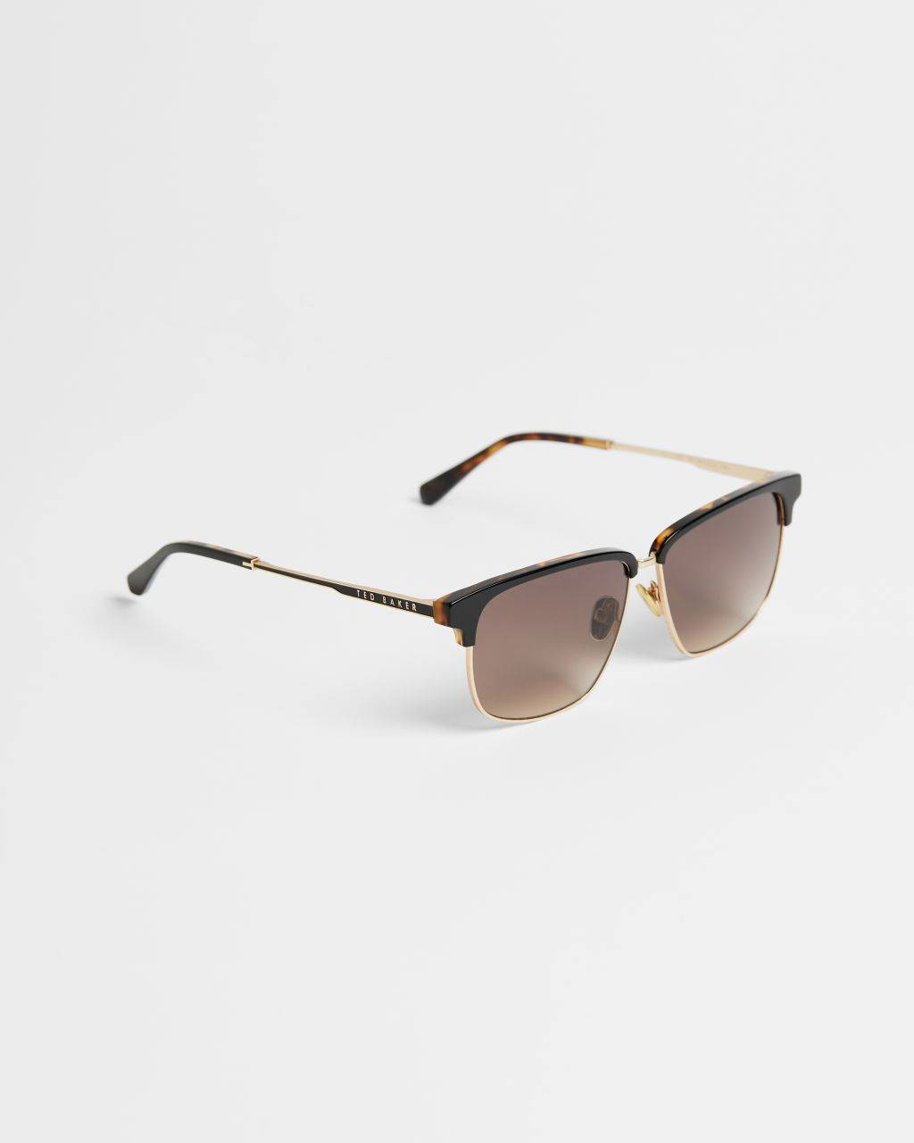 Ted Baker Combination Rectangle Sunglasses  - Black - Size: One Size