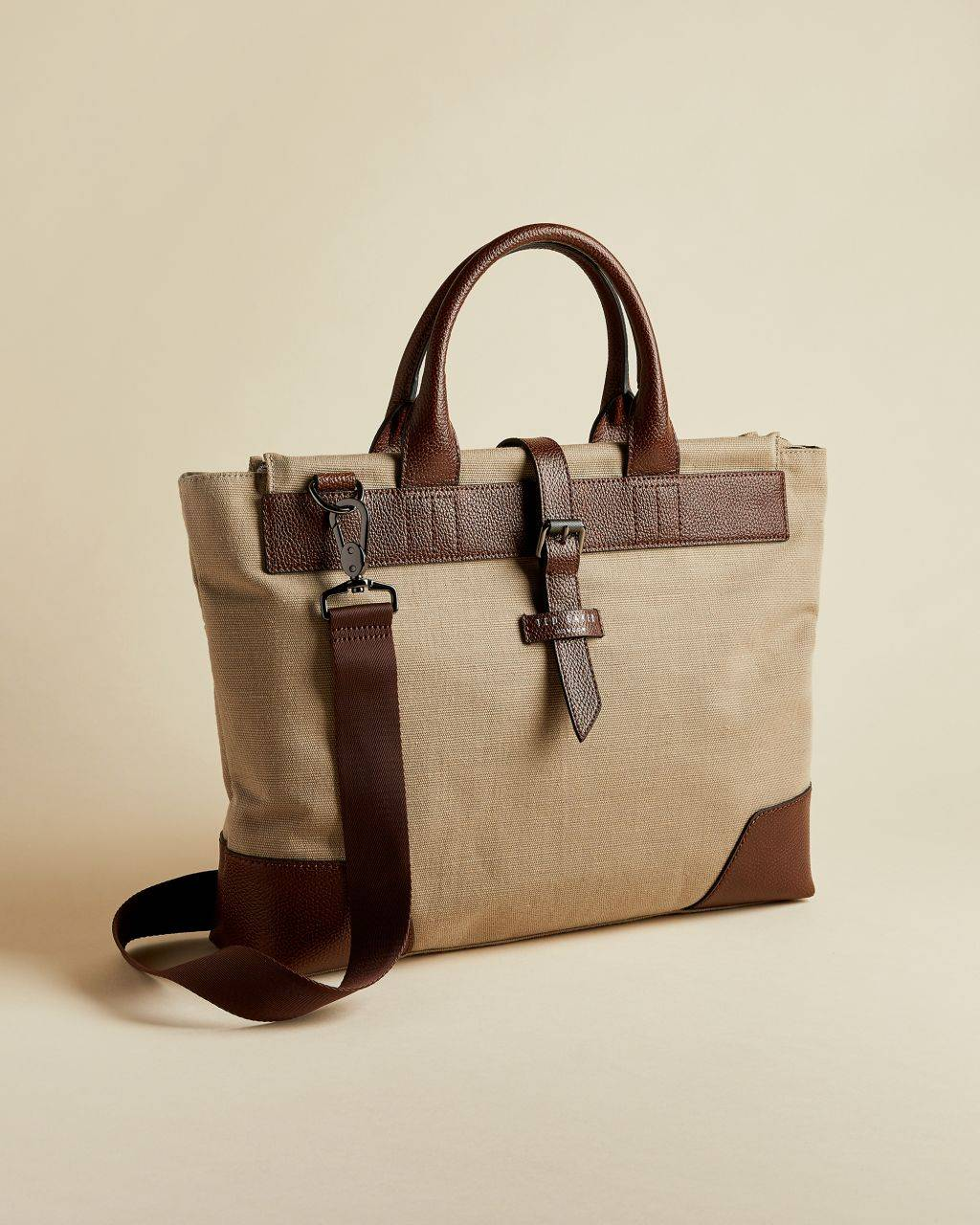 Ted Baker Jute And Recycled Polyester Canvas Document Bag  - Natural - Size: One Size
