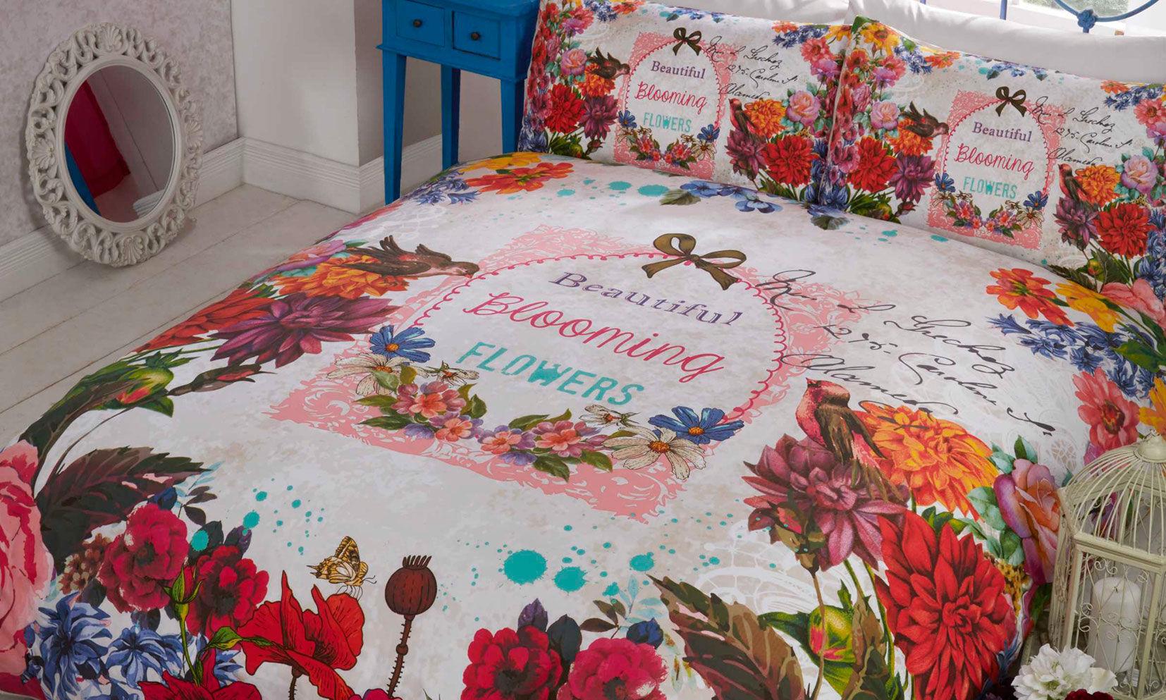 Rapport Home Easy Care Duvet Set: Multicolour Secret Garden/Double