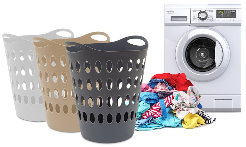Groupon Goods 50L Flexible Laundry Baskets: Two