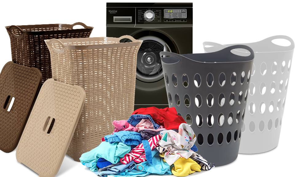 Groupon Goods Laundry Baskets with Lid: 50L and 75L - One Of Each