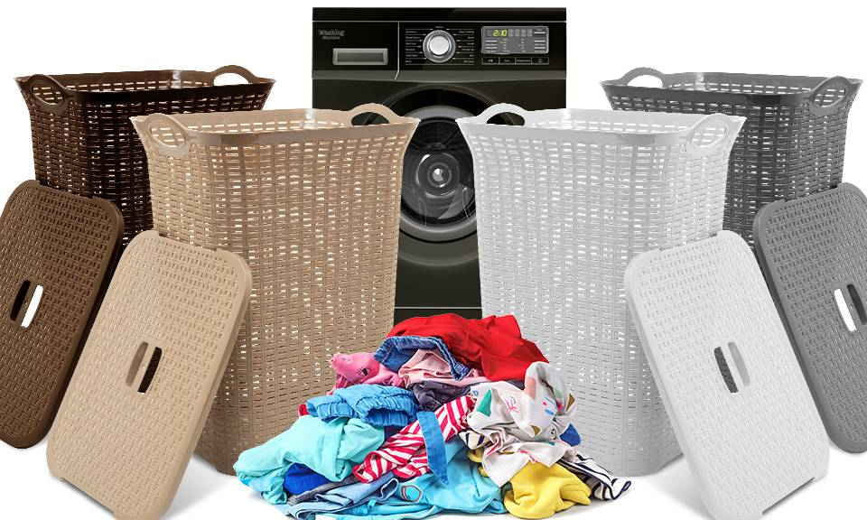 Groupon Goods Laundry Basket with Lid: 75L - One