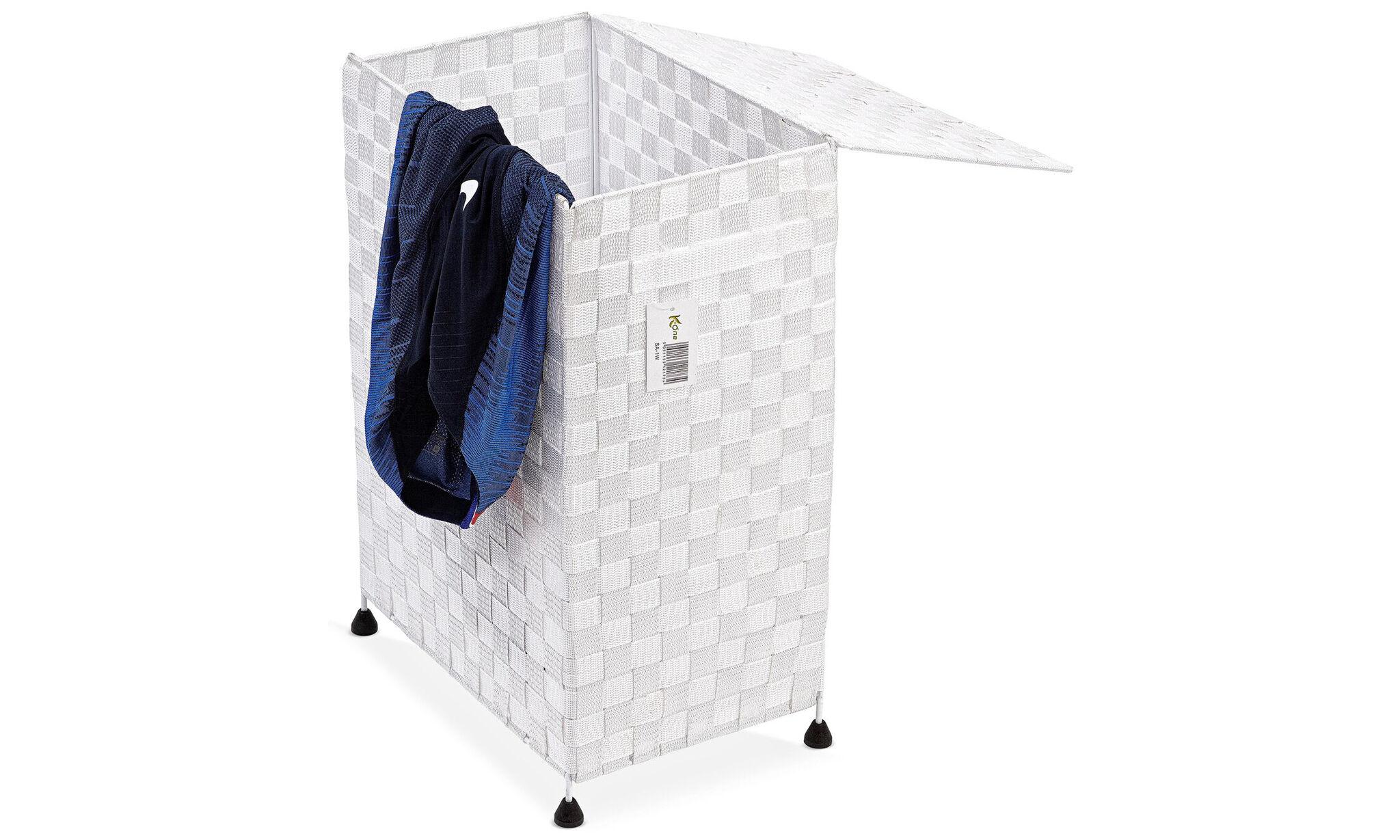 Groupon Goods Folding Laundry Basket: White