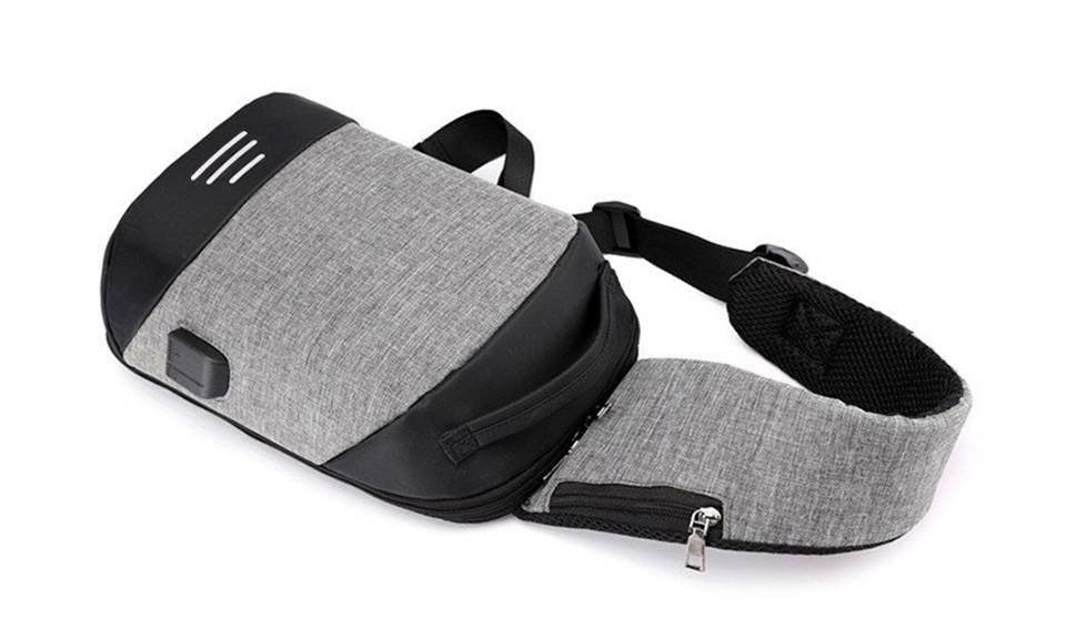 12.95 Aquarius Anti-Theft Backpack: Grey - One/No Accessories (95355921)