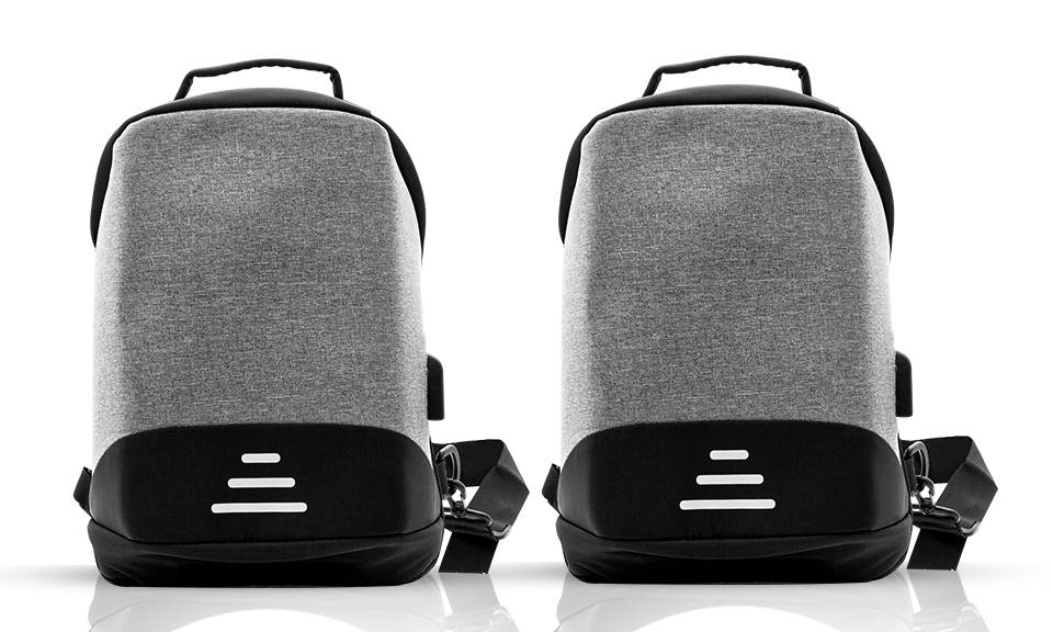 22.99 Aquarius Anti-Theft Backpack: Grey - Two/No Accessories (95355929)