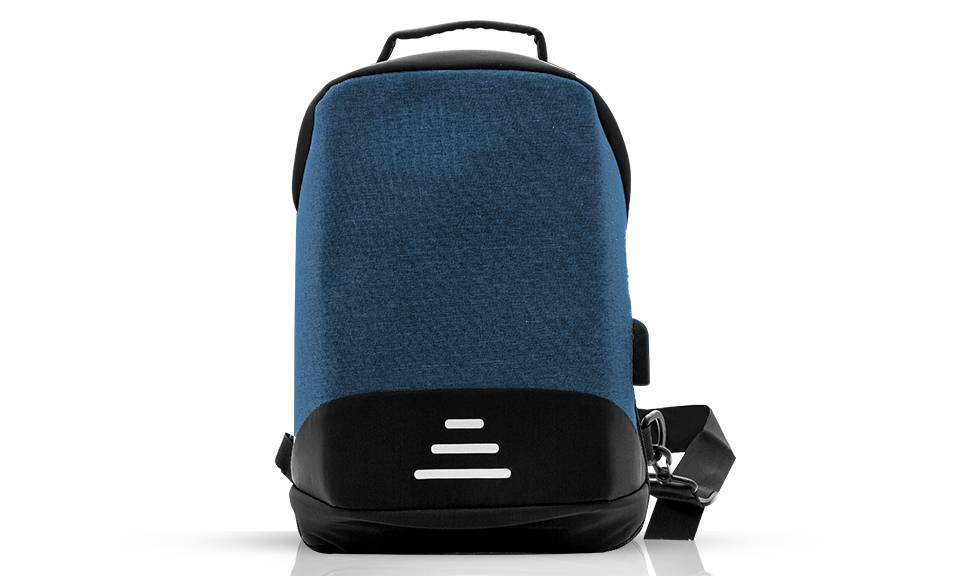 12.95 Aquarius Anti-Theft Backpack: Blue - One/No Accessories (95355923)
