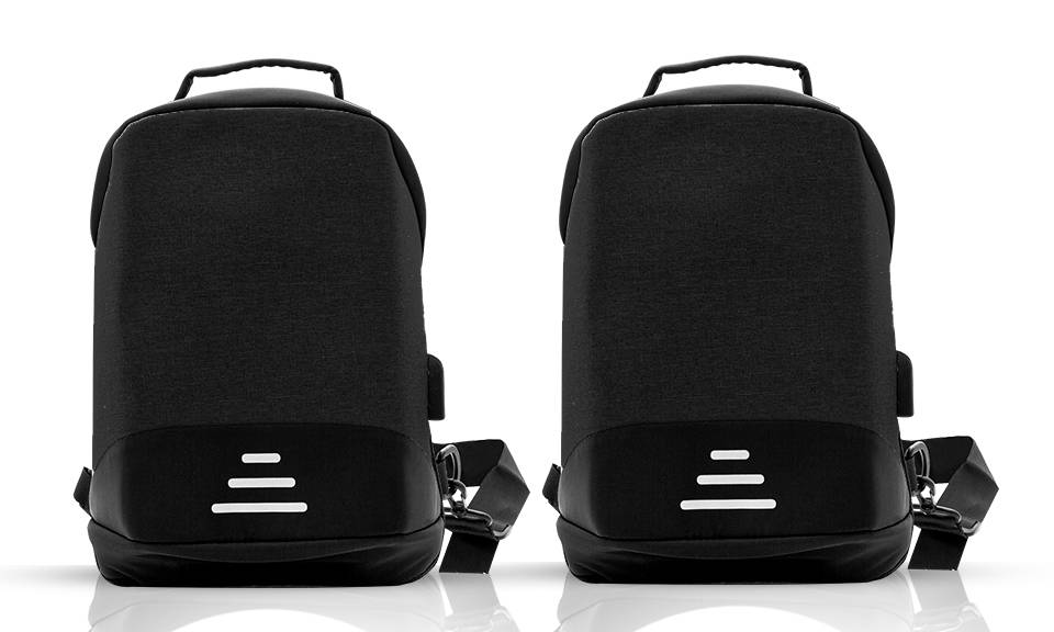 22.99 Aquarius Anti-Theft Backpack: Black - Two/No Accessories (95355927)
