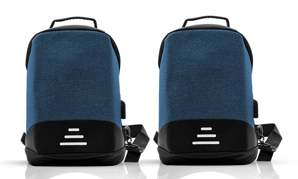22.99 Aquarius Anti-Theft Backpack: Blue - Two/No Accessories (95355931)