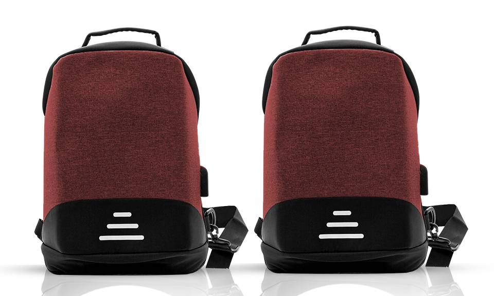 22.99 Aquarius Anti-Theft Backpack: Red - Two/No Accessories (95355933)