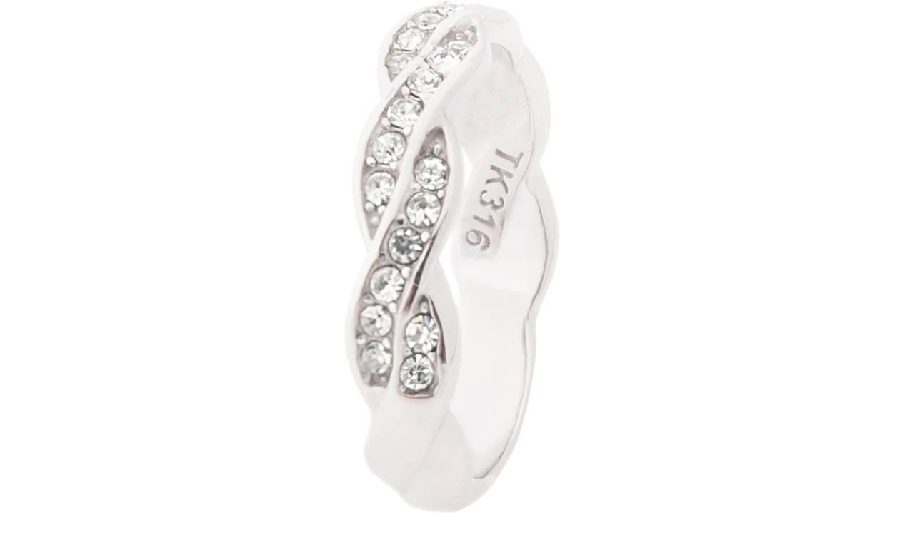 75.00 Ah! Jewellery Rings: Braided Twist Ring Band / P-Q / One