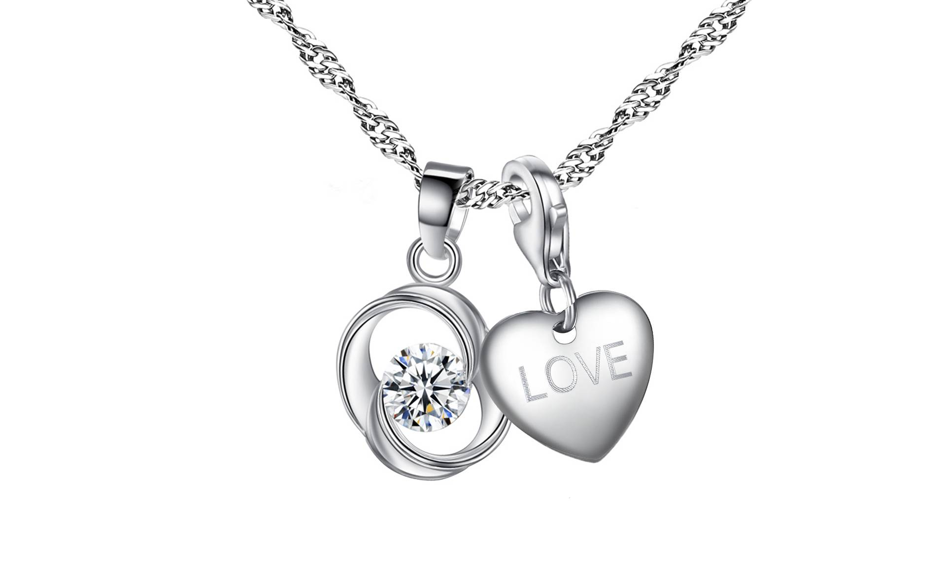 Groupon Goods Jewellery Set with Crystals: Love