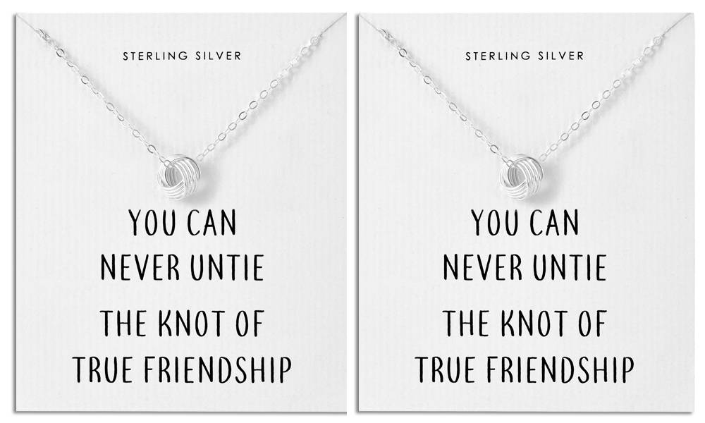 Philip Jones Sterling Silver Quote Jewellery: Necklace/Two