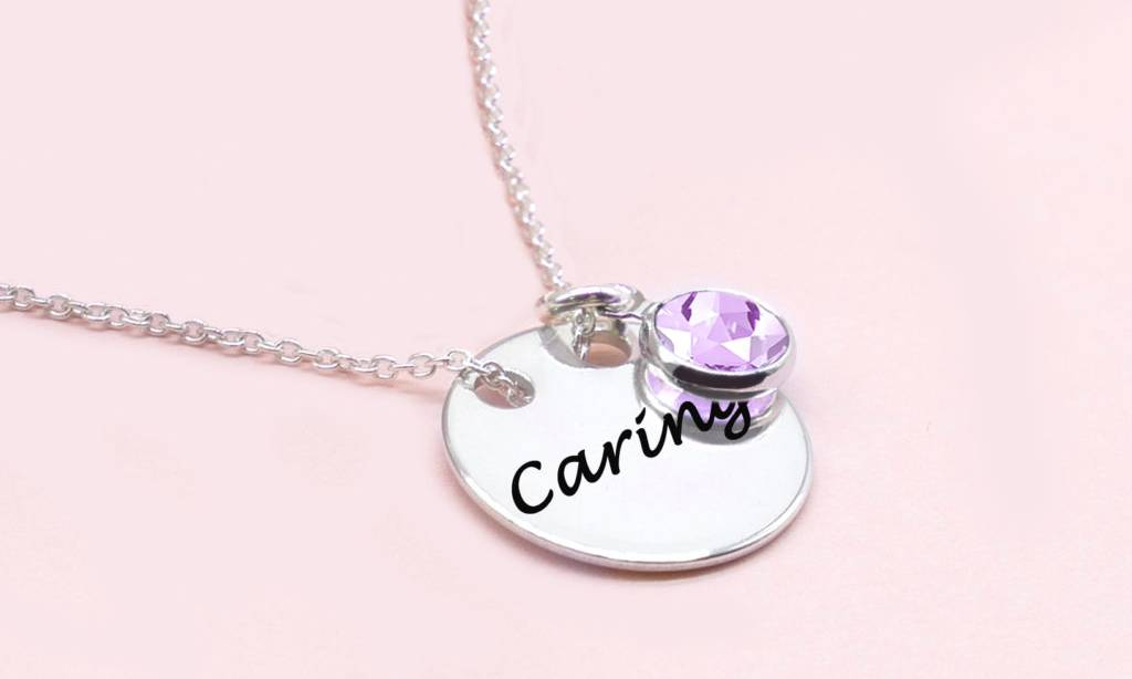 79.99 Ah! Jewellery Crystal Solid Circle Necklace: Caring with Light Amethyst Crystals