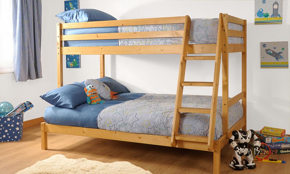 groupon goods wooden triple bunk bed caramel