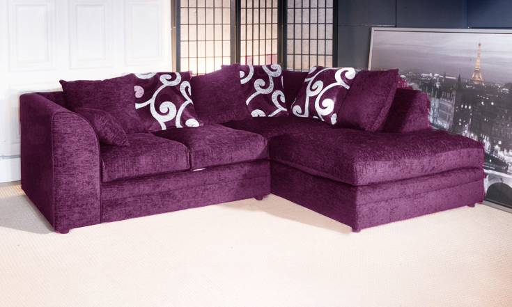 Groupon Goods Zina Sofa Collection: Right-Hand Corner Sofa and Three-Seater Sofa