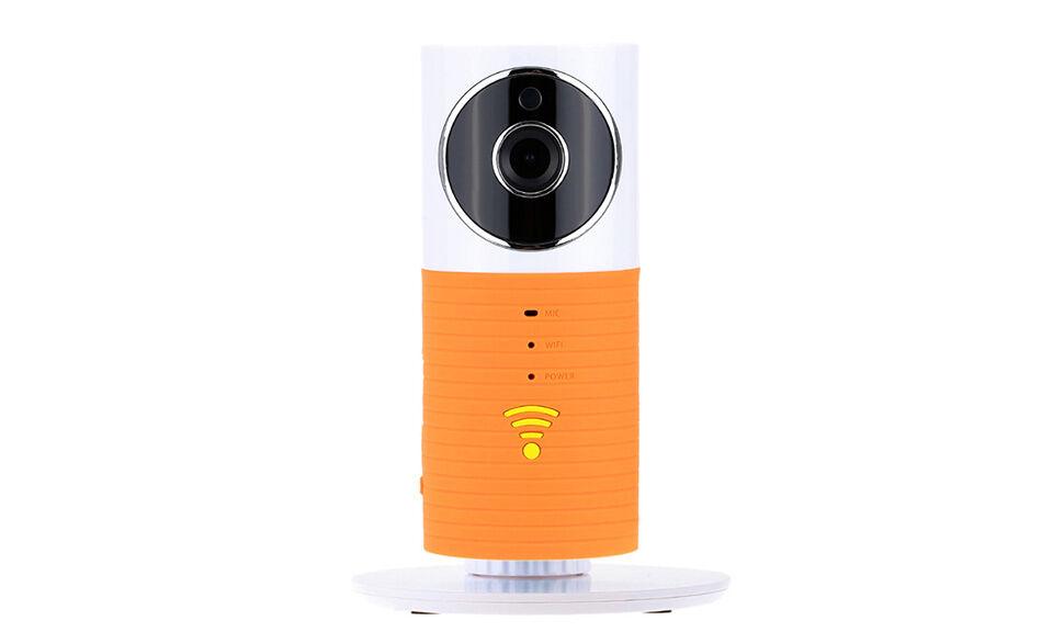 clever dog wireless wi fi cctv camera orange
