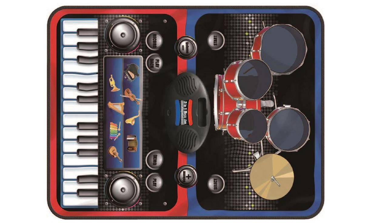 17.99 Vinsani Kids Musical Playmat: Two-in-One Music Jam Playmat SLW9881