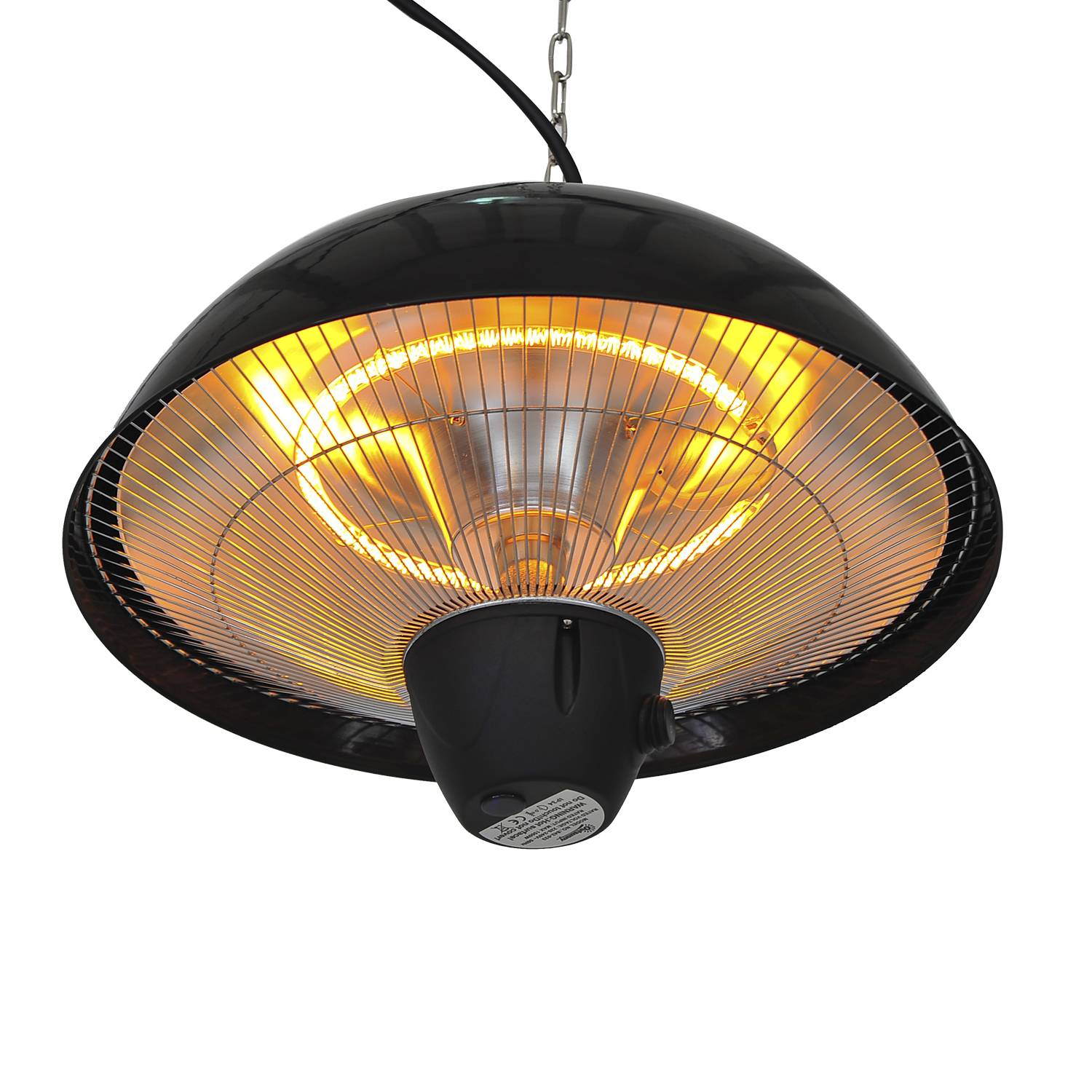 Outsunny Ceiling Mounted Electric Patio Heater-Black