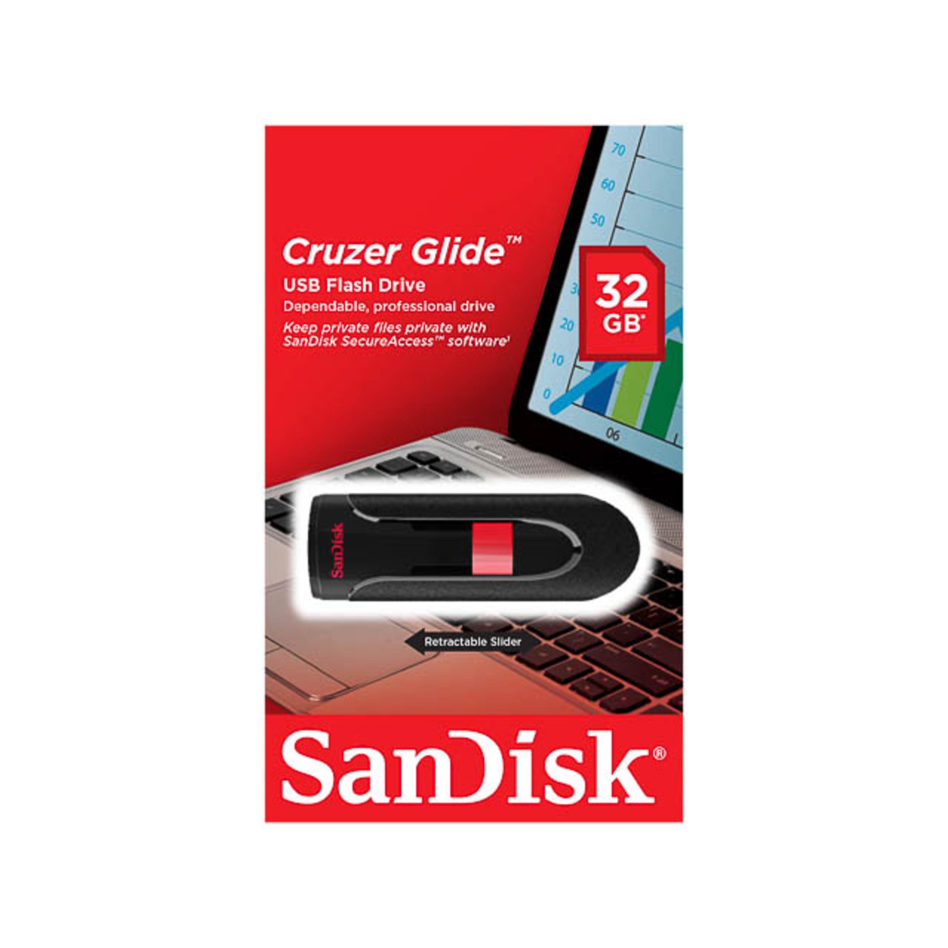 sandisk cruzer glide usb 2 0 stick 32gb