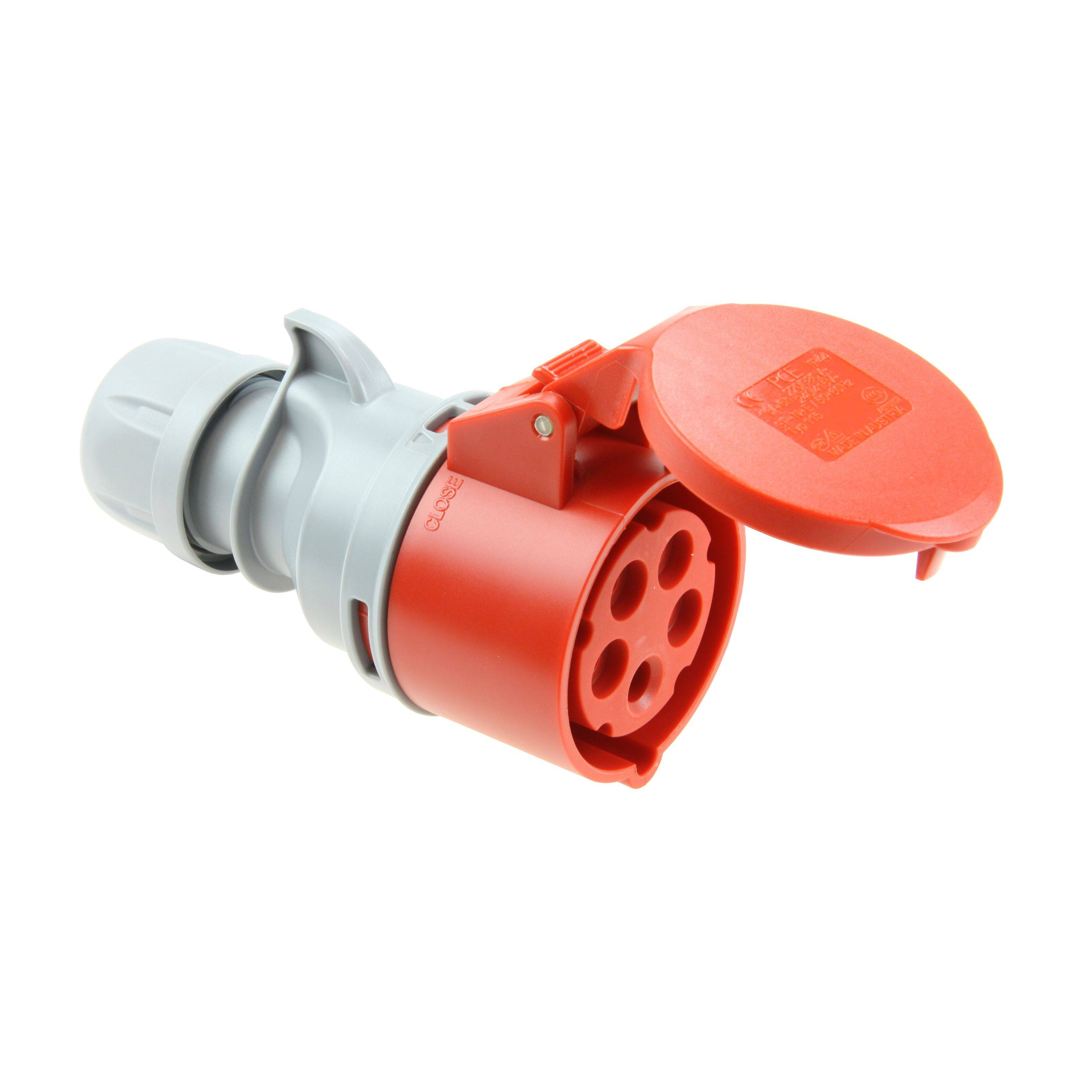 pce coupling cee 32a 5pin turbo twist red