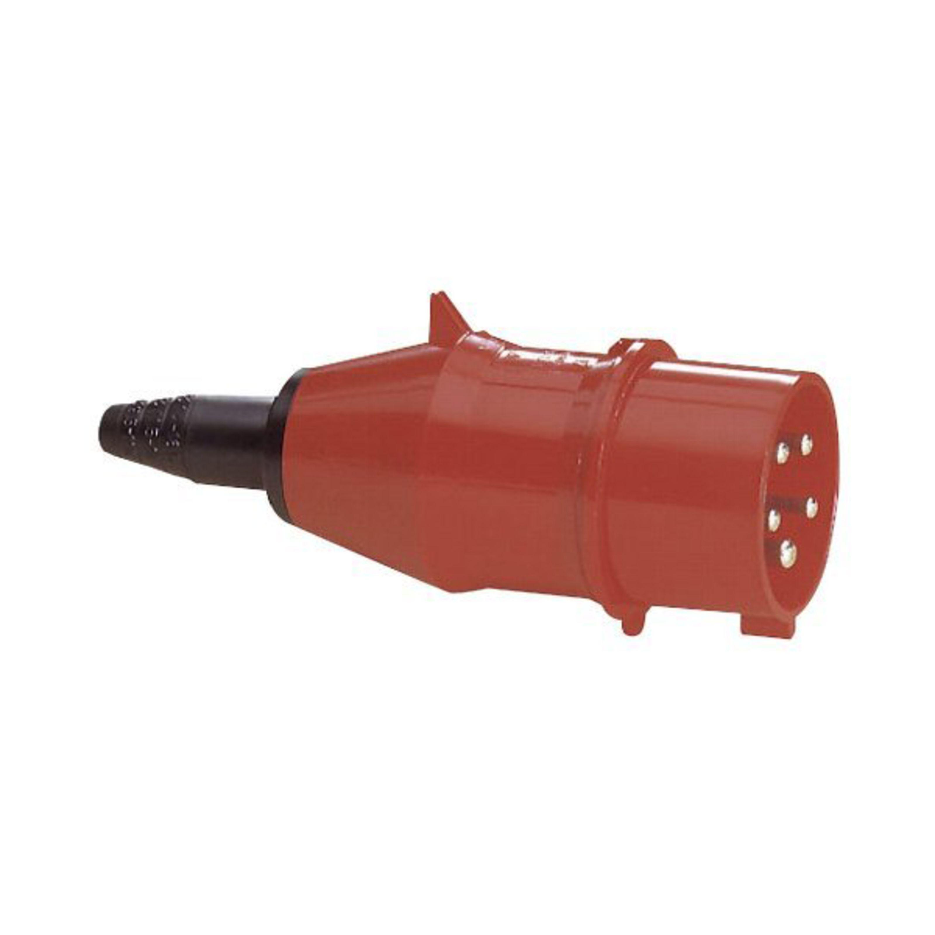 pce plug cee 16a 5pin turbo twist red
