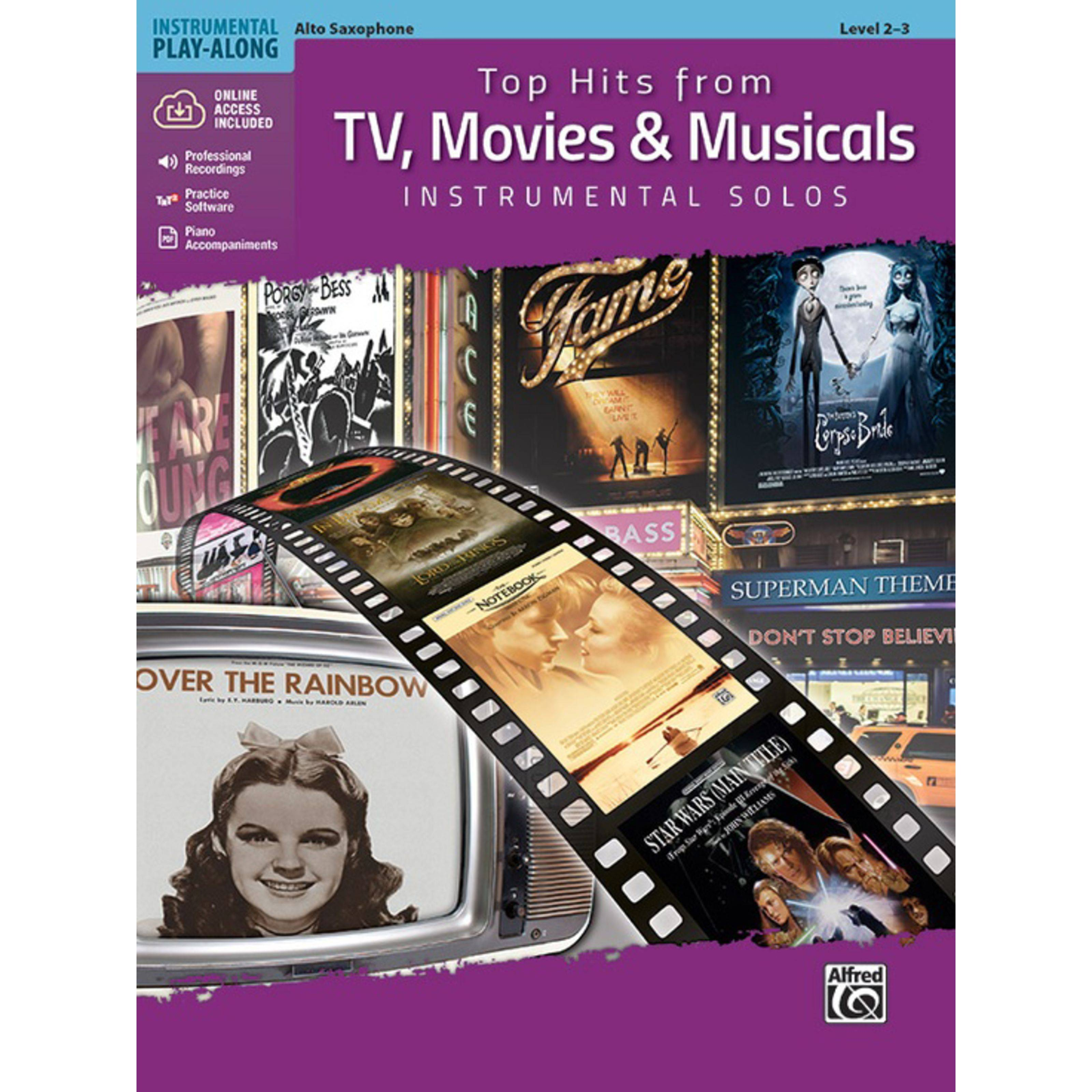 Alfred Music Top Hits from TV, Movies & Musicals - Alto Sax
