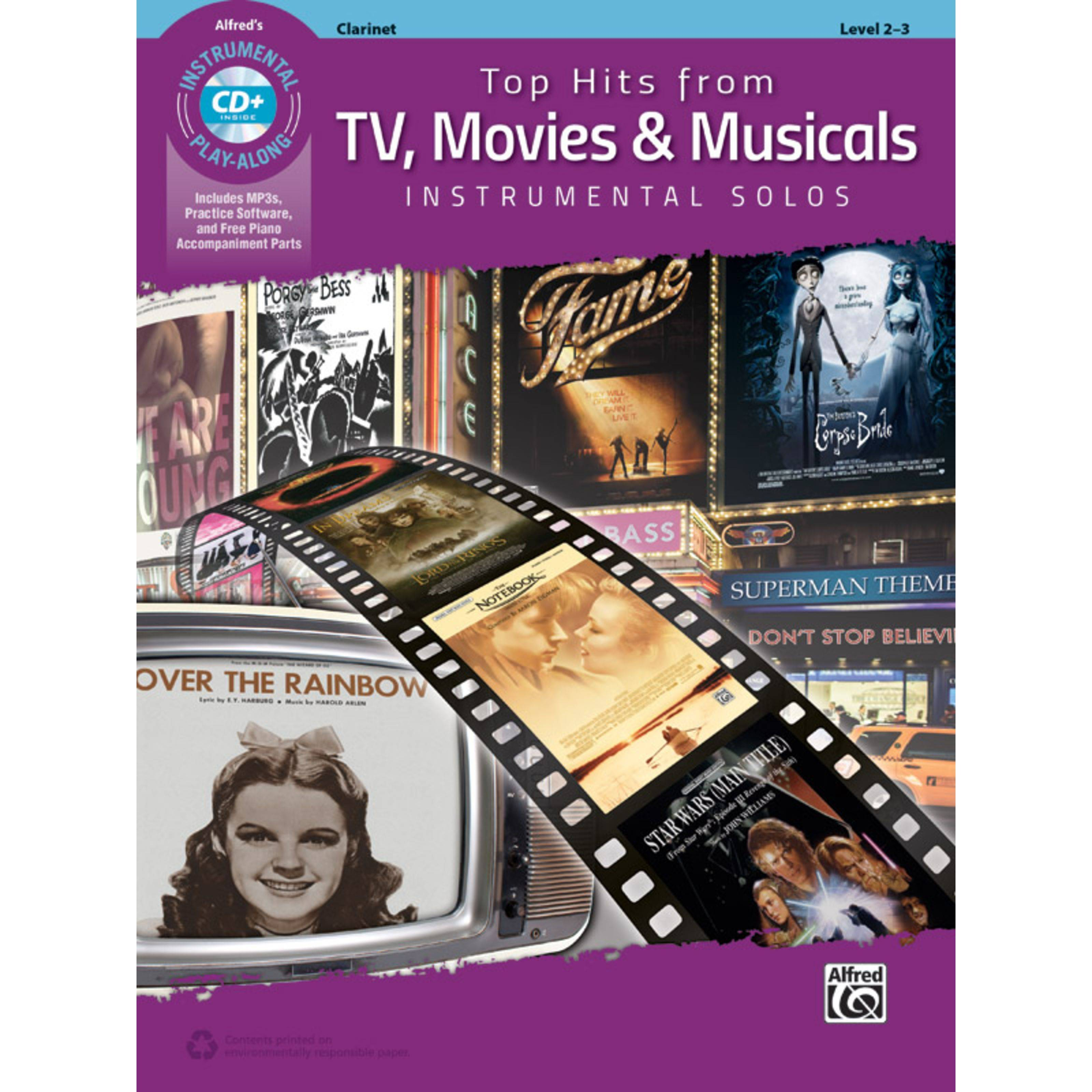 Alfred Music Top Hits from TV, Movies & Musicals – Clarinet