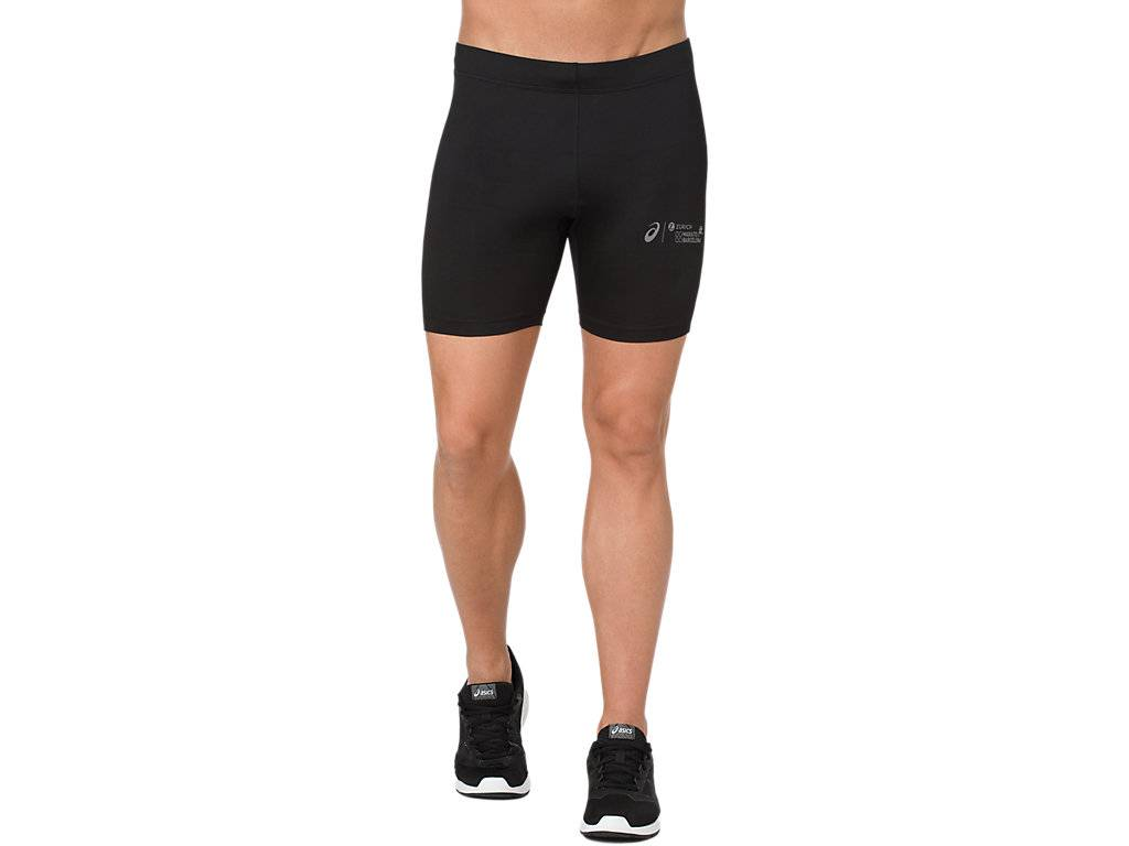 asics base layer sprinter 7in performance black size