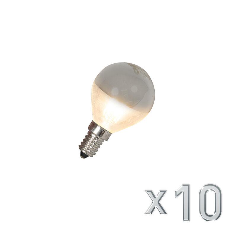 QAZQA Set of 10 E14 LED Mirror Globe P45 4W 370LM
