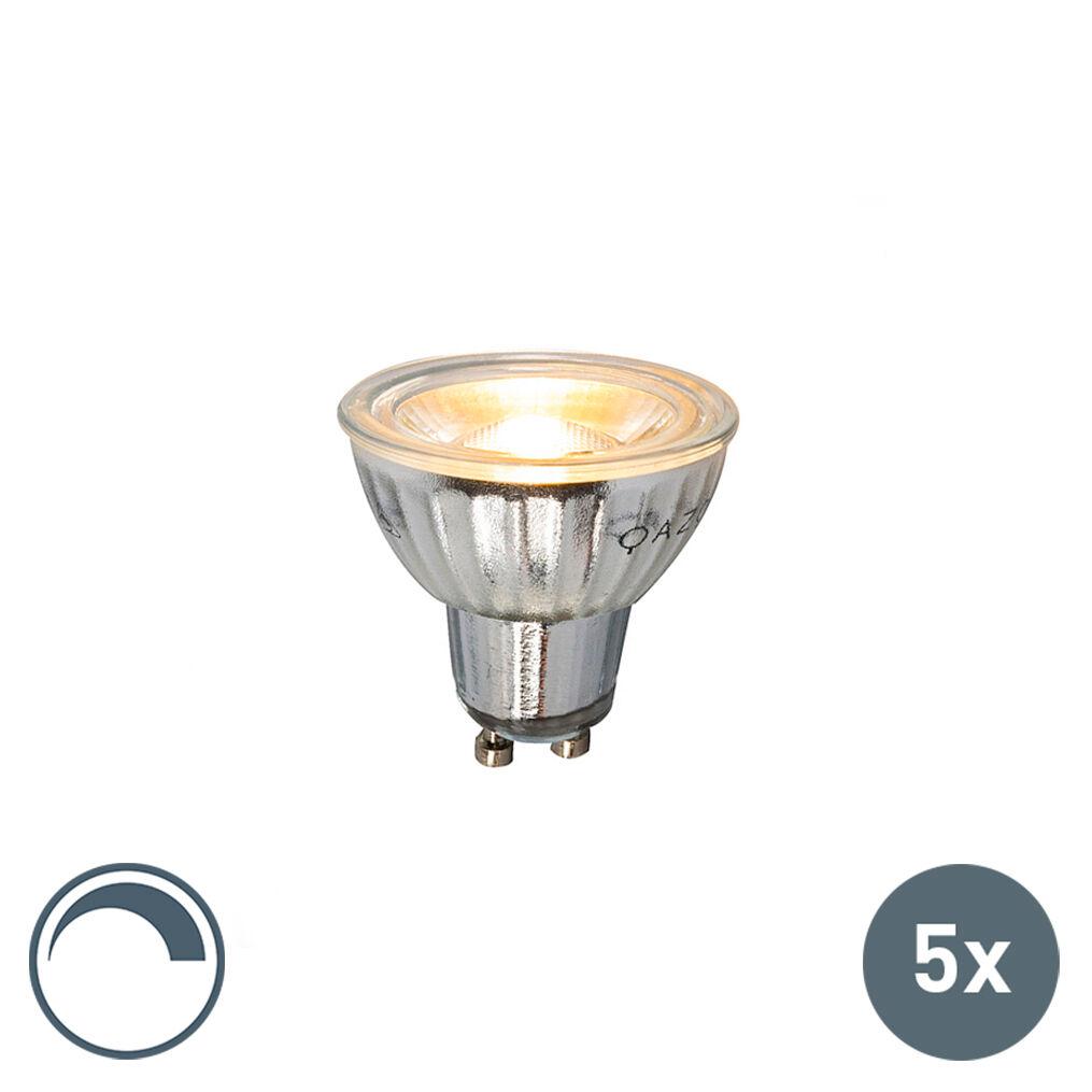LUEDD Set of 5 GU10 LED 5W 380LM 2700K