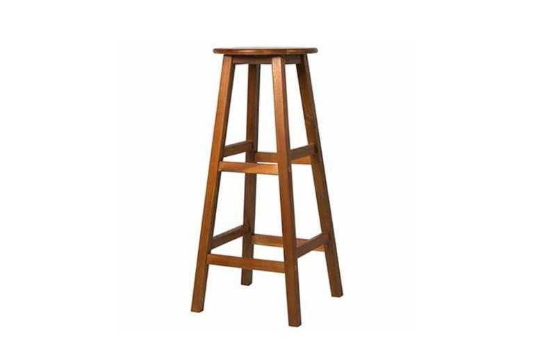 2 x Wooden Bar Stools - 2 Designs!