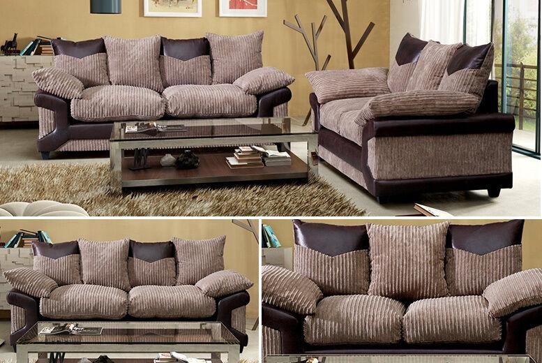 kendra fabric sofa set 2